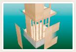 水平構面強度を向上させる根太レス剛床工法